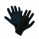 Перчатки черные с ПВХ